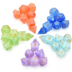 Silk Translucent Dice Series for DND RPG MTG