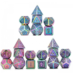 Colorful Plating Glitter Metal dice