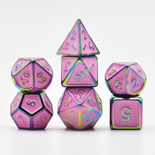 Colorful Plating Pink Enamel Metal Dice