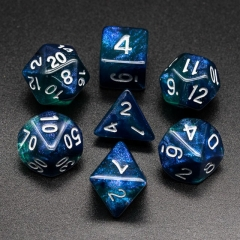 Blue&Green Glitter Dice