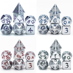 Chromium Dragon Font Metal Dice