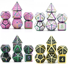 Colorful Plating Enamel Metal Dice