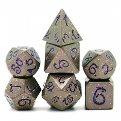 Color Change Metal Gragon Font Dice(Purple)