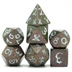 Color Change Metal Gragon Font Dice(White)
