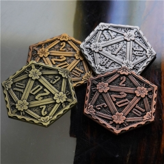 Ancient D20 Metal Coins