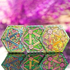 Rainbow D20 Metal Coins