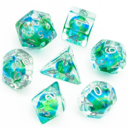 Colorful Glass Bead Dice