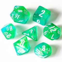Blue&Green&Yellow Glitter Dice