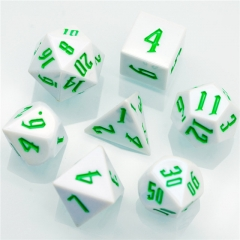White Colourful  DND Dice