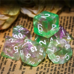 Green&Pink Glitter Dice