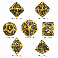 Hollow Flying Dragon Metal DND Dice