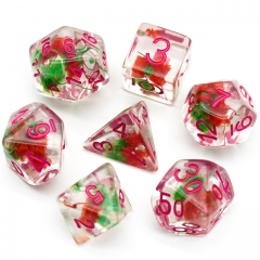 Red&Green Flower Dice