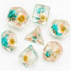 Blue&White Star Flower  Dice