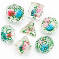 Blue&Pink Star Flower  Dice