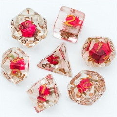 Red&Green leaf Flower Dice