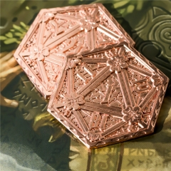 Copper D20 Metal Coins