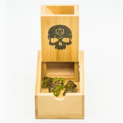 Bamboo Dice Tower with logo