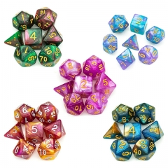Color Mixed Glitter dice